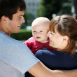 Young family — Stock Photo #3743120