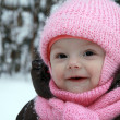Winter happy baby - Stockfoto