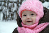 Vintern happy baby — Stockfoto