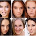 Portrait of beautiful young women — Stock Photo #3793703