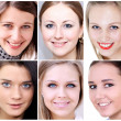 Portrait of beautiful young women — Stock Photo