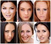 Retratos de hermosas mujeres jóvenes — Foto de Stock