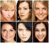 美丽的年轻妇女的肖像 — 图库照片