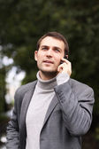 Man calling by phone — Stock Photo