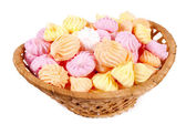 Basket isolated marshmallow — Stock Photo