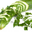 Cucumber and parsley — Stock Photo