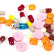 Pills and vitamins. - Stock Photo