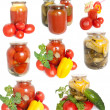 Stock Photo: Mixed canned vegetables