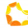 Citrus heart — Stock Photo