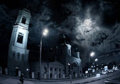 Moscow church at night — Stock Photo