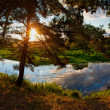 Sunset river — Stock Photo