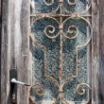 Door with glass — Stock Photo #3714732