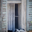Stock Photo: Sleeping cats on windowsill