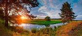 Sunset river — Stock Photo
