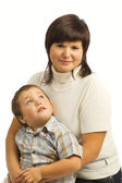 Baby with mom portrait — Stock Photo