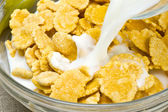 Cornflakes breakfast — Stock Photo