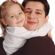 Happy father with a daughter — Stock Photo #4298018