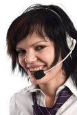 Call-center representative — Stock Photo