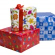 Piles of gifts - Stock Photo