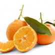Mandarines isolated - Stock Photo