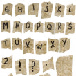 Old paper Alphabet — Stock Photo