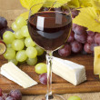 Glass of red wine — Stockfoto