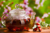 Hips berry tea — Stock Photo
