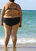 Obezite kadın — Stok fotoğraf