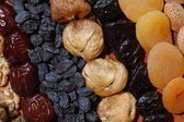 Dried fruits background — Stock Photo