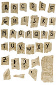 Eski kağıt alfabe — Stok fotoğraf