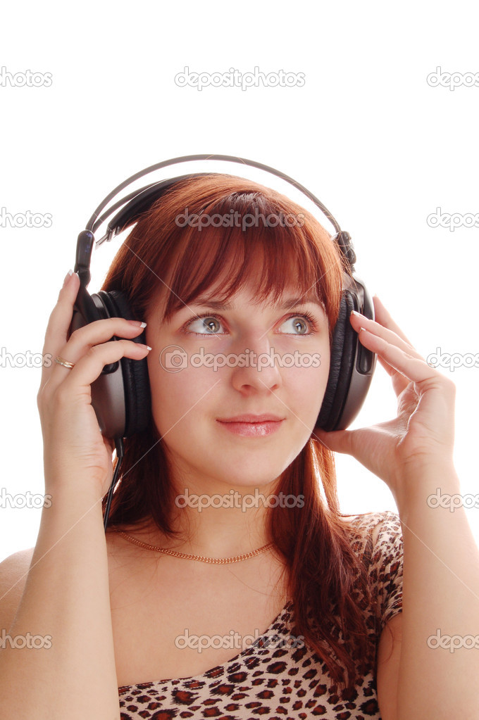 Girl in headphone — Stock Photo #4303358