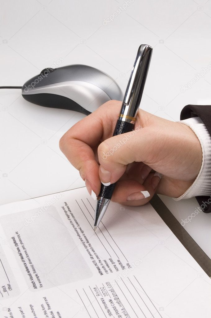 Put one's signature — Stock Photo #4303692