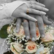 Hands with wedding rings - Foto Stock