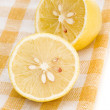 Stock Photo: Lemon on placemat isolated