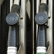 Fuel pump nozzles — Stock Photo
