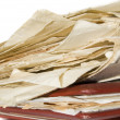 Old paper heap - Stock Photo