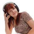 Girl in headphone — Stock Photo