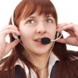 Call-center representative — Stock Photo