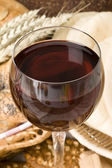 Glass of red wine — Stock Photo