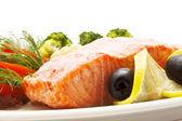 Balık yemek — Stok fotoğraf