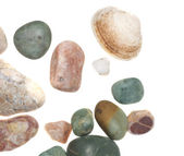 Sea pebble isolated — Stock Photo