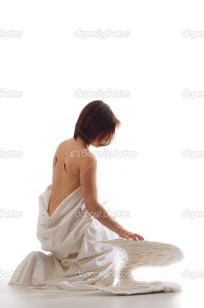 Girl-angel — Stock Photo #4311371
