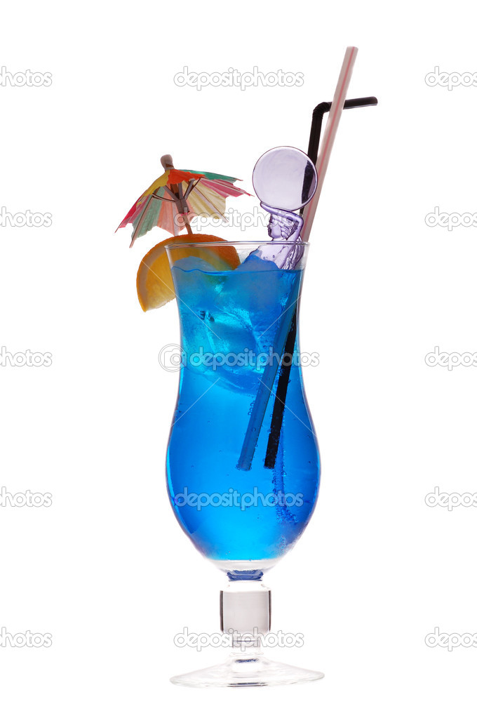Blue lagoon cocktail (rom, liqueur, lemon fresh ) — Stok fotoğraf #4318743