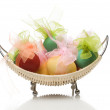 Easter eggs in basket — Stock Photo #4322339