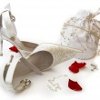 Her Wedding Day Accessories — Stock Photo