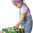 Baby with gifts — Stock Photo #4327082