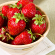 Strawberry dish - Stock Photo
