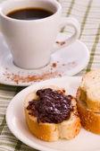 Pane con cioccolato e caffè — Foto Stock
