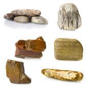 Sea pebble collage — Stock Photo