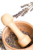 Mortar and lavender — Stockfoto